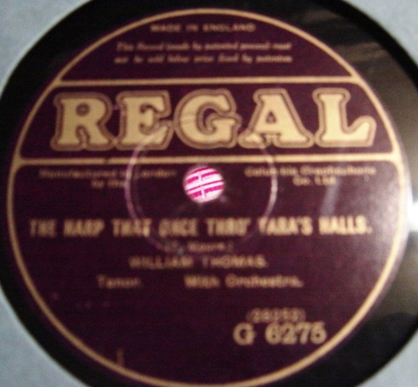 William Thomas - The Harp that once Tara Halls - Regal G.6275